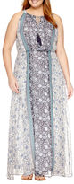 Studio 1 Sleeveless Floral Maxi Dress-Plus
