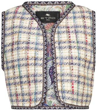 Etro Checked tweed vest