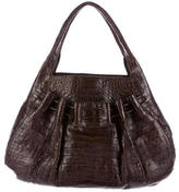 Nancy Gonzalez Crocodile Drawstring Shoulder Bag