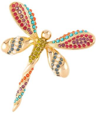 Susan Caplan Vintage 1980s Vintage D Orlan Dragonfly Jewel Swarovski Crystal Brooch