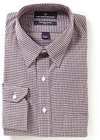 Hart Schaffner Marx Non-Iron Fitted Classic-Fit Hidden Button-Down Collar Gingham Dress Shirt