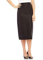 Preston & York Taylor Jacquard Pencil Skirt