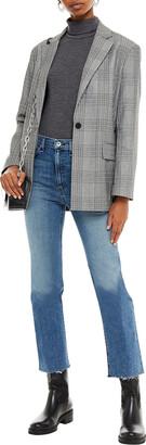 Rag & Bone Cropped Frayed High-rise Bootcut Jeans