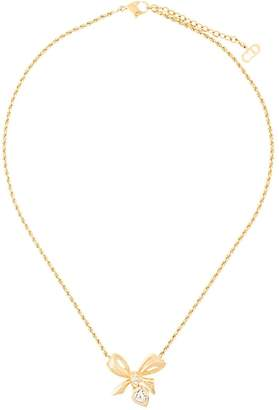 Christian Dior Pre-Owned bow pendant necklace