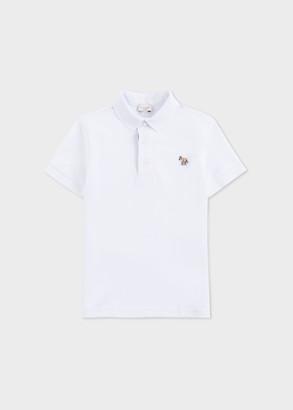 Paul Smith 2-6 Years White Zebra Polo Shirt