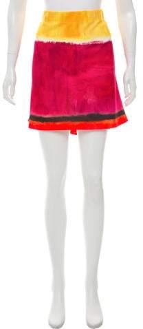 Alberta Ferretti Dip-Dye Printed Mini Skirt w/ Tags
