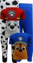 Nickelodeon Paw Patrol Chase and Marshall Cotton 4 Piece Toddler Pajamas for boys
