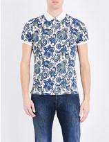 Etro Paisley-print cotton polo shirt
