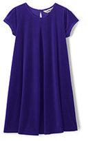 Classic Girls Plus Velveteen Dress-Vibrant Concord