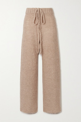 STAUD Chong Boucle Wide-leg Pants - Taupe