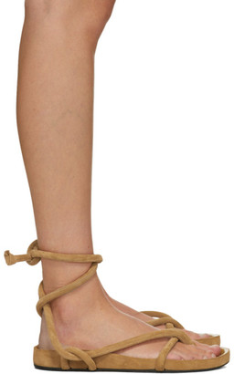 Isabel Marant Tan Lastro Flat Sandals