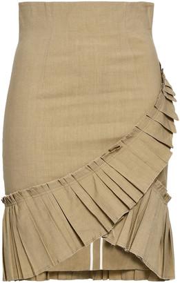 Isabel Marant Rebel Wrap-effect Pleated Linen-blend Skirt