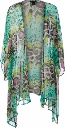 Steve Madden Women's Queen Cobra Bell Sleeve Kimono