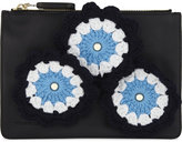 J.W.Anderson Crocheted daisies leather pouch