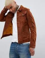 Goosecraft Western Suede Jacket in Brown