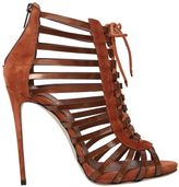 Le Silla 110mm Suede & Metallic Leather Sandals
