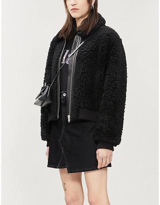McQ Koriki high-waist denim mini skirt