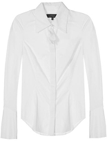 Robert Rodriguez White Fan Pleat Shirt