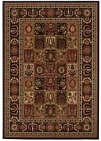 Couristan Royal Kashimar Antique Nain Framed Floral Wool Rug
