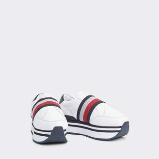 Tommy Hilfiger Leather Elastic Stripe Sneaker