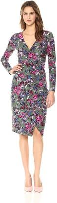 Rachel Roy Women's Longsleeve Floral Printed Tie Waist Dress