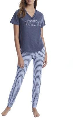 ED Ellen Degeneres Off The Cuff Amazing Knit Pajama Set