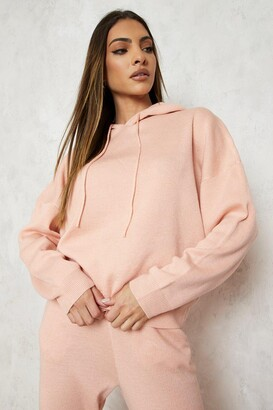 boohoo Hoody Knitted Lounge Set