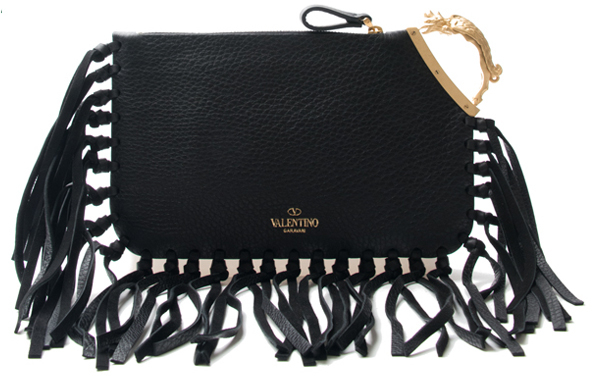 Valentino Gryphon Fringe Clutch