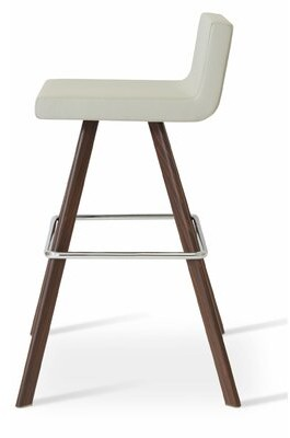 "Upper Squareâ""¢ Harlowe 29"" Bar Stool Upper Squarea Leg Color: Counter/Walnut"