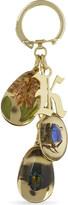 Christopher Kane Beetle and flower keyring