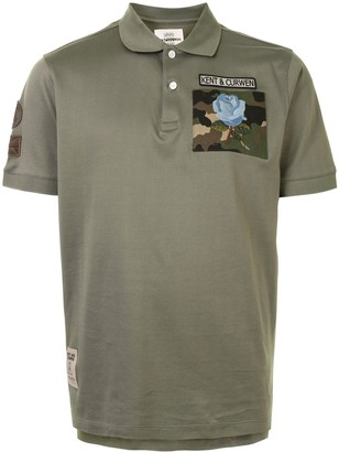 Kent & Curwen Short Sleeve Camouflage Patch Polo Shirt