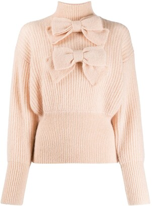 Zimmermann Bow Embroidered Knit Jumper