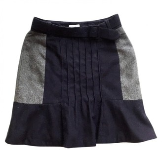 Claudie Pierlot Navy Wool Skirt for Women