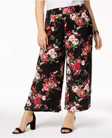 INC International Concepts I.N.C. Plus Size Printed Cropped Wide-Leg Pants, Created for Macy's