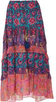 Figue Sarita Floral Silk Skirt