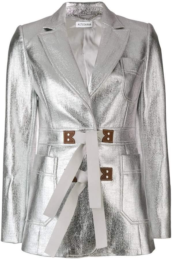 Altuzarra metallic tie waist Bastille jacket