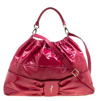 Salvatore Ferragamo Pink Patent leather Handbags