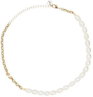 Anissa Kermiche gold-plated Duel pearl necklace