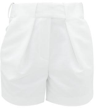 Alexandre Vauthier Tailored Grain-de-poudre Cotton-blend Shorts - Cream
