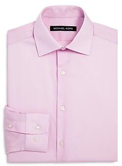 Michael Kors Boys' Cotton Dress Shirt - Big Kid