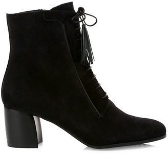 Tod's Lace-Up Suede Ankle Boots