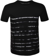 Antony Morato Crew Neck Tie Dye T Shirt Black