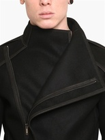 Gareth Pugh Double Waterproof Wool Cloth Coat