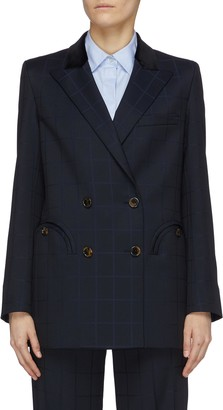 BLAZÉ MILANO 'Noa' double breast check blazer