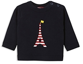 Jacadi Boys' Striped Eiffel Tower Intarsia Sweater - Baby