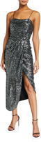 Derek Lam 10 Crosby Lexis Sequined Sarong Cocktail Dress