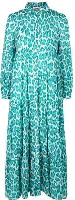 Diane von Furstenberg Kiara Leopard-print Cotton-blend Shirt Dress