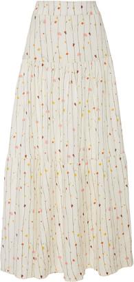 Agua Bendita Anis Enredadera Linen Maxi Skirt