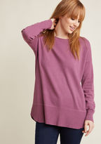 ModCloth Ease Achieved Pullover Sweater in Berry in XS