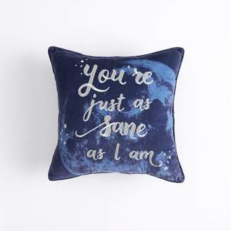Pottery Barn Teen HARRY POTTER Luna Sentiment Pillow Cover, 18 x 18, Midnight Blue
